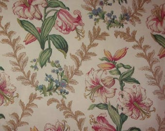 Fabric old beautiful lily flowers *.