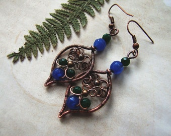 Earrings Tutorial, Wire Wrapping DIY Earrings, Woodland Pattern, Easy Wire Earrings Tutorial, DIY Jewelry, Tutorial 58