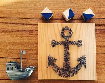 anchor nautical Baby Nursery/Kids Room String Art room Decor