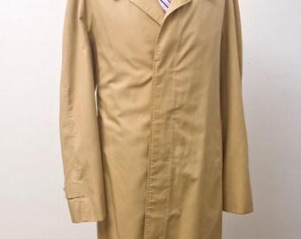 Men's Overcoat / Vintage Christian Dior Khaki Jacket / Size 44 Large