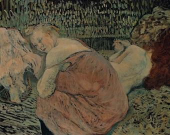Henri de Toulouse-Lautrec: Two Friends. Fine Art Print/Poster (004707)