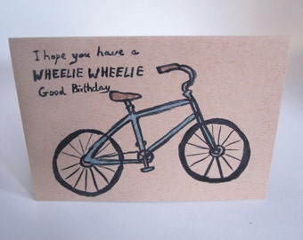 Greeting Card - Bike