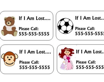 Emergency Contact Temporary Tattoos - If Lost Call - Child Safety Tattoos