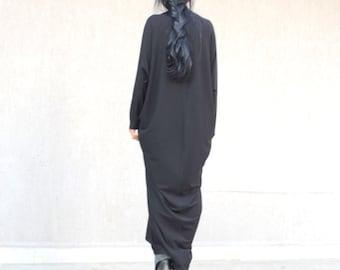 Abaya maxi dress, caftan maternity dress, everyday dresses for plus size women, casual clothing, long black dress, long sleeve black dress
