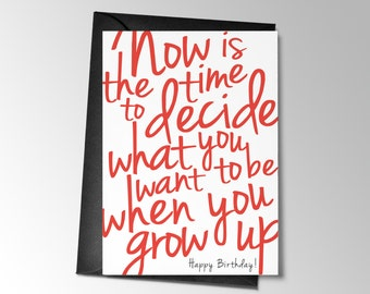Funny Birthday Card, Printable Birthday Card, what you want to be when you grow up, Funny Greeting card, Funny Printable Card Birthday