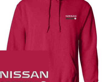 NISSAN NISMO  Emboidered Red Hoodie Pullover Hooded Sweatshirt New