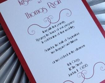 Modern elegant wedding invitation