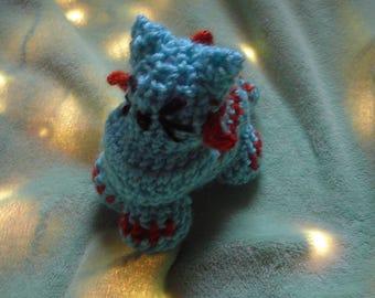 Seahorse kitten / Mythical kittens / crochet cat plushy / ocean kitten