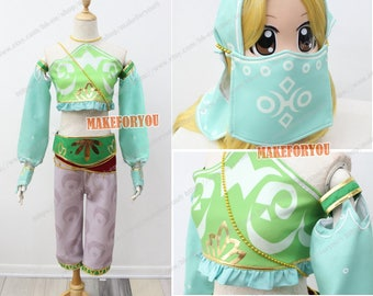 Women's Legend of Zelda Breath of the Wild Gerudo Cosplay Costume with headband