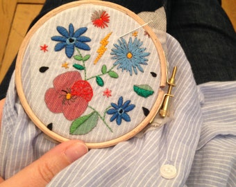 Flowers - Big EASY BRODERIE EXTRA (Recharge)