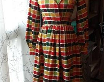 1960s-70s hostess designer dress