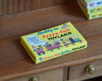 Dolls House Miniature Noddy in Fuzzy-Felt Toyland