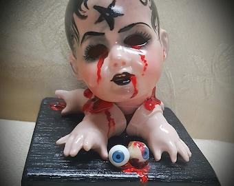 Haunted Doll Sculpture - Satanis