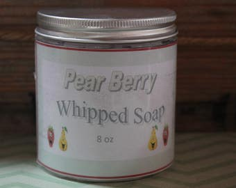 Pear Berry Whipped Soap, Shower Frosting