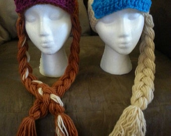 Elsa Hat or Anna Hat - Custom! Any size!