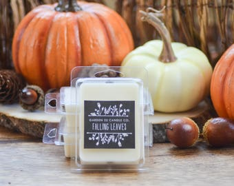Soy Wax Melts, Falling Leaves, Autumn Leaves, Fall Scented Wax Tarts, Wax Cubes
