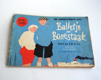 Vintage Comic Strip Book, Bulletje en Bonestaak