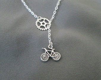 Cyclist Lariat Style Necklace