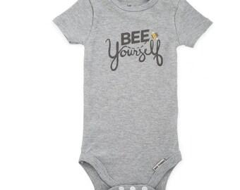 Bee Yourself Baby Bodysuit