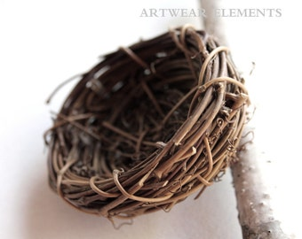 Hand Woven Willow Branch Birds Nests, x2 Recycled Eco Friendly Nests,  Displays, Gift Basket Supply, Birds Nests, Nests, ArtWear Elements