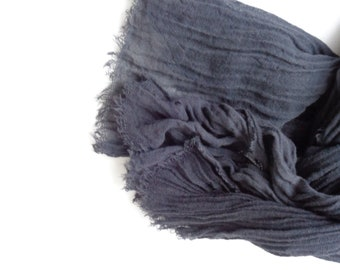 cotton scarf , black cotton scarf,handmade scarf, men women scarf Scarcocreations