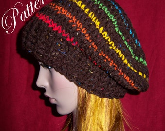"Quick and Chunky Slouchy Hat """"""P A T T E R N"""""""