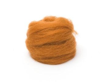 Toffee Wool Roving for Felting - 1 oz. Corriedale