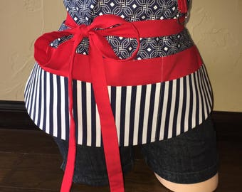 Red, White, and Blue Half Waist Pocket Apron