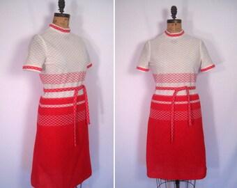 1960s mod colorblocked scooter dress • 60s Dalton diamond print shift dress • vintage short sleeve a line day dress with belt