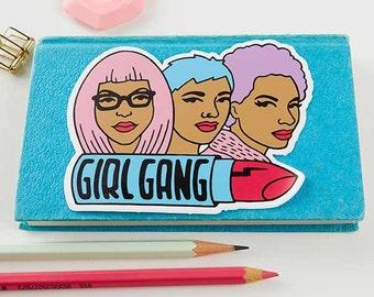 Girl Gang Sticker // Vinyl sticker, cute stationery, planner stickers, feminist sticker