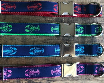 Maine Lobster Dog Collar, Maine Lobster, Nautical Dog Collar, Lobster Collar, Nautical Dogs, Salty Dogs, Sew Fetch Dog Collars