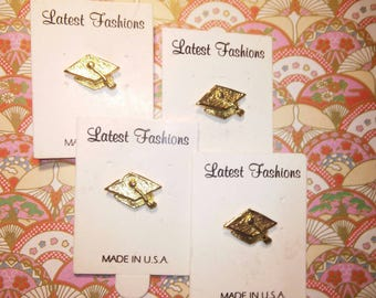 4 Goldplated Graduation Pins