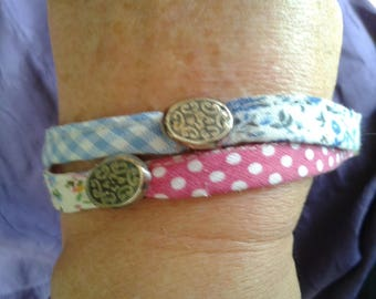 Bracelet liberty, gingham and dots by Mary j designs