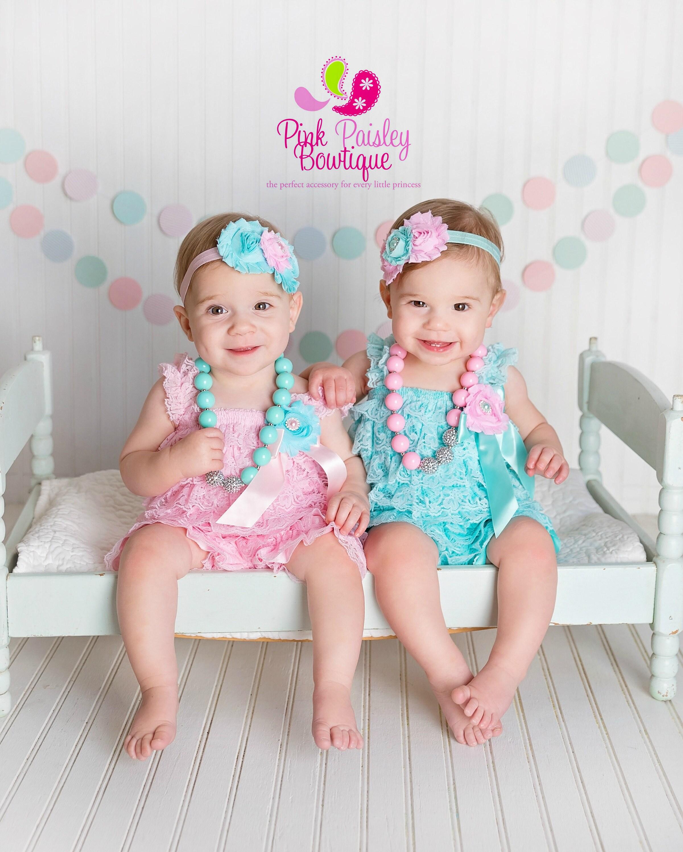 Twins Baby Birthday Cake