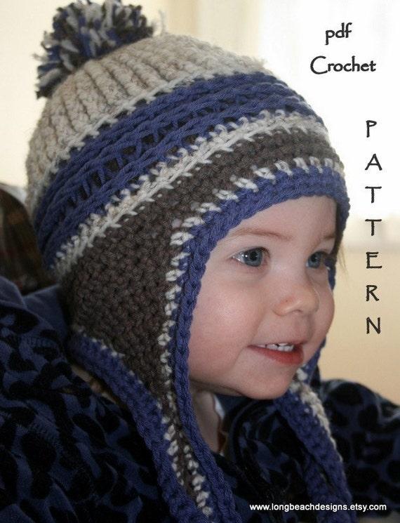 Crochet Beanie Pattern Ear Flap Crochet Pattern Kids