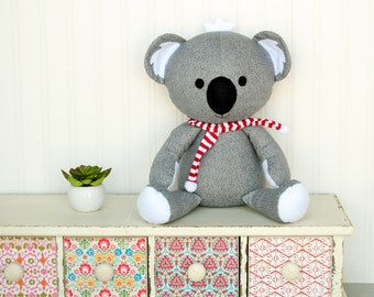 Koala Sewing Pattern Koala Softie PDF Sewing Pattern Stuffed Animal Pattern