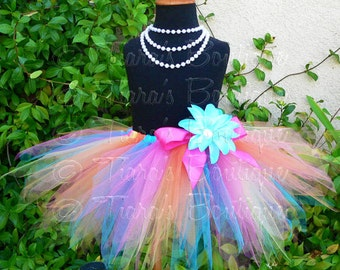 "Less Full Economy Tutu Skirt for Girls, Babies, Toddlers - Choose Your Colors - 11"" pixie tutu - Custom SEWN Tutu - sizes Newborn up to 5T"