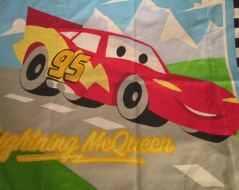 Vintage Cars Novelty Fabric Pillow Case Lightning McQueen Tow Mater