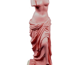 Aphrodite sculpture Venus Alabaster Goddess of love and beauty on base statue