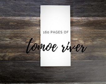 Tomoe River Paper Travelers Notebook Insert - 160 Pages - White or Cream Tomoe River Paper - Midori Insert - Art Journal Notebook - Planner