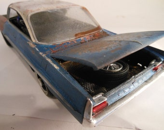 Scale Model, Pontiac Car, Classicwrecks ,Rusted Wreck,Model Hobby,WideTrack