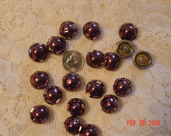 Vintage Amethyst  Purple Colored Buttons