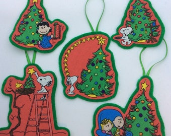 New Charlie Brown Christmas Ornaments-Set of 5