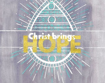 Christ Brings Hope Easter Printable