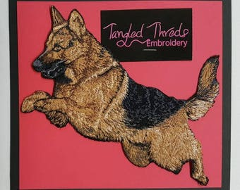 German Shepherd Embroidered Patch