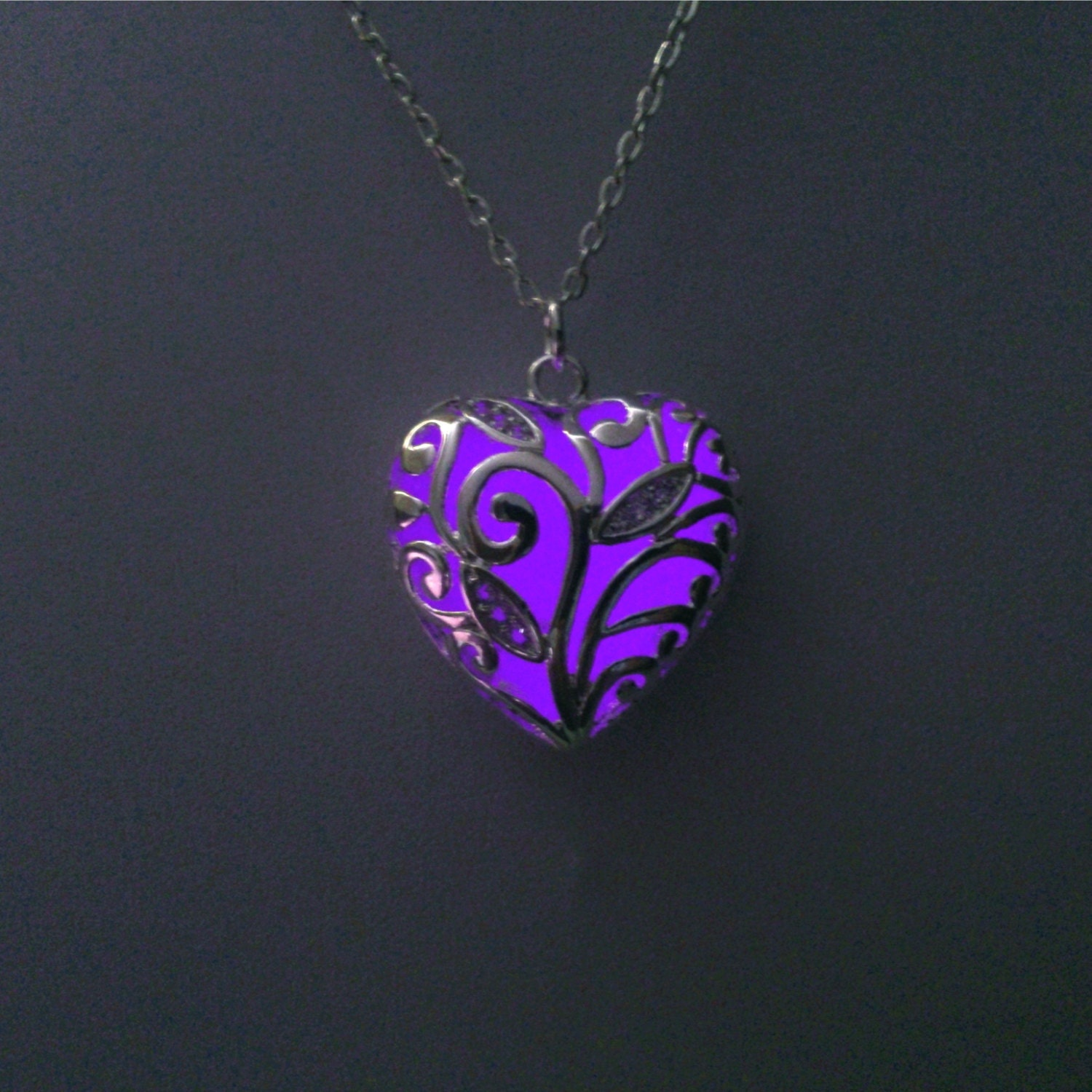 accent pendant uk necklace heart amethyst amazon diamond co purple plated rhodium shape dp jewellery