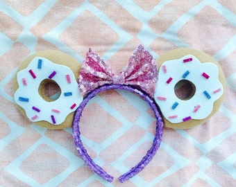 Donut Disney Minnie Mouse Ears Headband