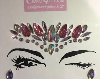 Face Gem - Pink Crown