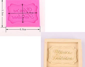 You're Fabulous Silicone Mould Mat - ideal cupcake topper