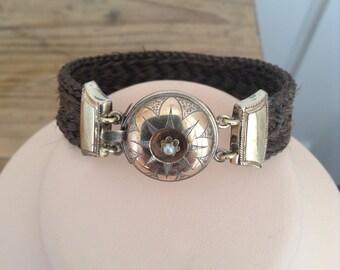 1850s hair bracelet